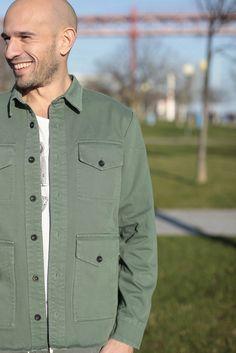 Enjoy the beautiful (military inspired) dry green tone of the Marialva over shirt - J. LISBON