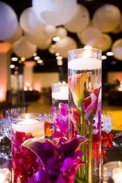 Wedding Reception - $1200 for floating candle centerpieces!!! - SERAPHIM1980's Purple Wedding by Color Blog