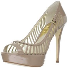 This baby will really show you off...Michael Michael Kors Women's Molly Dark Dune Patent Platform Pumps