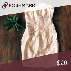 Rose Gold Cocktail Dress Perfect for a formal or a cocktail hour with some minimalist pumps  H&M Dresses Strapless