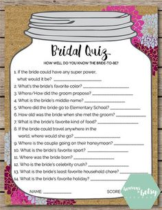 Wonderful 46 Creative Bridal Shower Games