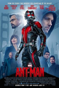 Marvel has released the brand new Ant-Man movie poster -- and we have it for you! Ant-Man, one of the founding members of the Avengers, is the next Marvel superhero movie coming to the big screen. In the movie, Scott Lang (Paul Rudd), 2015 Movies, Hd Movies, Movies And Tv Shows, Movie Tv, Movies Online, Watch Movies, Action Movies, Movies Free, Disney Movies
