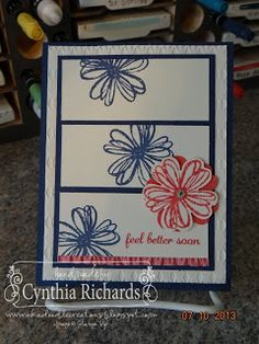 Stampin' Up! Flower Shop Pancy swap card for convention 2013!