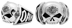 Harley-Davidson Men's Skull Ring. Made of Stainless Steel. Features a Willie G. Skull with Bar & Shield logo and Harley-Davidson around the band. - Harley-Davidson Men's Skull Ring - Made of Stainless