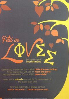 Fall in love with Phi Sigma Sigma! @Phi Sigma Sigma SVSU