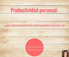 Productividad Personal  Alto rendimiento High Performance Coaching