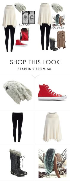 """Like a snowball fight"" by crabbies ❤ liked on Polyvore featuring Converse, Chicwish, SOREL and Jean-Paul Gaultier"