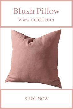 Throw Pillow - Blush Pillow Handmade Cushion Covers, Handmade Cushions, Decorative Pillow Covers, Throw Pillow Covers, Throw Pillows, Blush Pillows, How To Make Pillows, Velvet Cushions, Lumbar Pillow