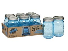 Ball® Heritage Collection Pint Jar Set of 6 - These limited edition blue Ball jars are a celebration of the heritage featuring period-correct blue color and embossed logos on the front and back. These vintage-inspired blue jars maintain all of our modern standards for quality and reliability. Perfect for all of your home canning needs... or as a collectible item!