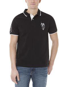 AdoreWe - US Polo Association U.S. Polo Assn. Tonal Logo Polo Shirt Black - Size S - AdoreWe.com