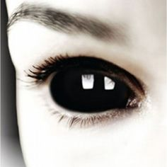 ZOMBIE Black SCLERA 22mm Contacts