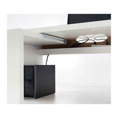 MALM Bureau avec tablette coulissante - blanc - IKEA