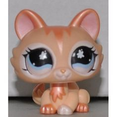Littlest Pet Shop 870 Peach Shimmer Cat Kitten from Journal LPS Great New Toy | eBay