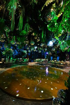 Neon Jungle, Jungle Party, Disco Theme, Disco Party, Egyptian Kings And Queens, Hanging Wedding Decorations, Nightclub Design, Enchanted Forest Wedding, Welcome To The Jungle