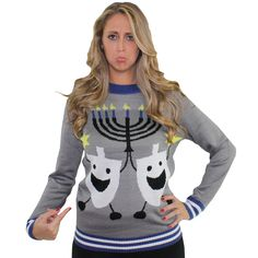 Hanukkah Ugly Christmas Sweater by Tipsy Elves