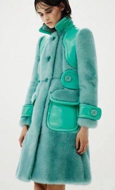 Mint Dyed Mink Fur Coat