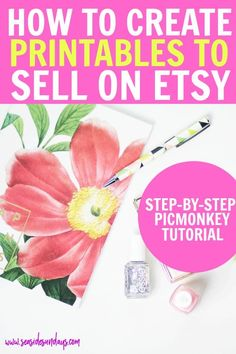 Make money selling printables online with this tutorial. Printable art is so popular on Etsy and you Way To Make Money, Make And Sell, Make Money Online, Etsy Business, Craft Business, Business Ideas, Business Notes, Business Marketing, Online Business