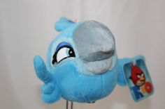 "Angry Birds Rio Jewel Macaw Plush Bird Sounds Blue Gray Commonwealth Toy  9"" New #AngryBirdsRio"