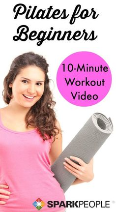 Try Pilates from the comfort of your living room with this easy workout video created for beginners. Hello, summer abs! | via @SparkPeople #fitness #exercise #core