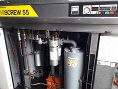 Chương Liên bán  máy nén khí cũ Nhật Bản Hitachi 55 kw làm mát bằng nước có hệ thống tách ẩm.