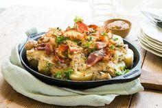 Meir comfortfood enn middag, kanskje... Gratinerte poteter med bacon og soppkrem