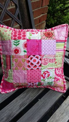 13 Quilted Pillow Cover by TheSunnyStitch on Etsy Patchwork Pillow, Quilted Pillow, Pillow Crafts, Personalised Cushions, Pillow Room, Decorative Throw Pillows, Craft Supplies, Pillow Covers, Sewing Projects