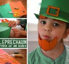 Printable Leprechaun Hat Craft — Now with more Beard
