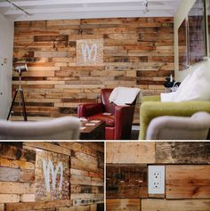 Obsessed with this pallet wall!!!! Took 40 pallets to build accent wall