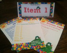 Very Hungry Caterpillar Price Is Right Deluxe Baby Shower Classroom Game Printable