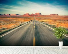 Monument Valley Highway wall mural room setting