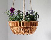 reuse a bundt pan for a plant hanger
