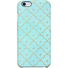 Uncommon Quatrefoil Scales Mint iPhone 6 Plus SS Deflector Case ($29) ❤ liked on Polyvore