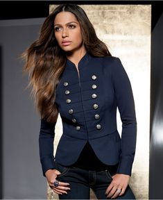 #want - INC International Concepts Jacket, Ponte-Knit Military - Macy's