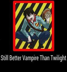 Blood lad so true Vampires And Werewolves, Anime Shows, Anime Style, Werewolf, Twilight, Blood, Nerd, Geek Stuff, Manga