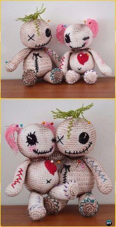 Crochet Voodoo dolls Free Pattern -Crochet Halloween Amigurumi Free Patterns Source by annaitto Halloween Crochet Patterns, Crochet Patterns Amigurumi, Amigurumi Doll, Halloween Knitting, Knitting Patterns, Crochet Gratis, Cute Crochet, Crotchet, Crochet Baby
