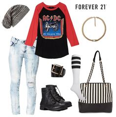 ACDC shirt from Forever 21 ❤