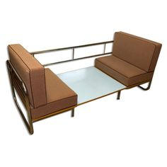 Exceptional functionalist multipurpose seating set-sofa bed | Your20th.com-Wholesale Antiques