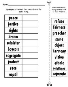 92 Best Martin Luther King Jr Worksheet Images King Jr Martin