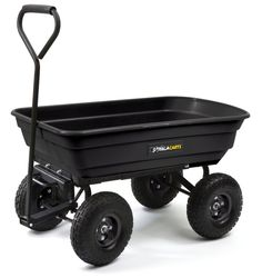 Gorilla Carts GOR200B. Gorilla carts, as the name suggests, are super heavy duty plastic and steel carts that are rugged, d...