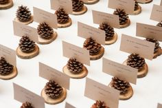 Pinecone Place Card Holder  Wedding Escort Cards  by LoveItRustic, $36.00