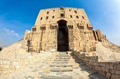 Cittadella di Aleppo, in Siria. Ponte di ingresso.