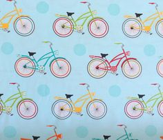 Bicycle Fabric Cruzin  Henry Glass by Quiltwear on Etsy, $10.50