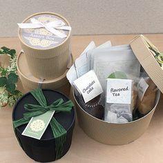 お茶と菓子セットのかわいいギフト<br />【ラベルテンプレート】