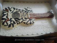 Zebra Print Guitar Birthday Cake... Coolest Birthday Cake Ideas