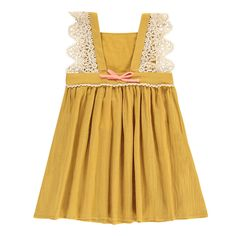 Celia Embroidered Pinafore Dress-product