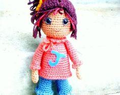 Tutorial de muñeca Kokeshi de Crochet amigurumi por TGLDdoll