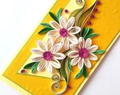 Quilling cards & framed quilling art от PaperMagicByJR на Etsy