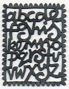 Hand pierced a to z brooch  oxidised silver by Nicola Becci. Re-pinned with link to designer :-)