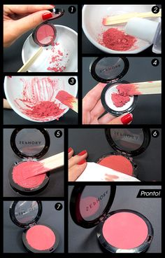 Consertando maquiagens quebradas