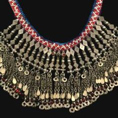 Tribal Belly Dance Jewelry Old Kuchi Afghani Gypsy Necklace